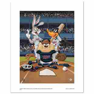 At the Plate Twins Numbered Limited Edition Giclee