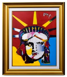 """Peter Max- Original Mixed Media """"Delta (Liberty) 2006"""