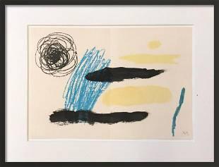 Joan Miro Yellow Custom Framed lithograph