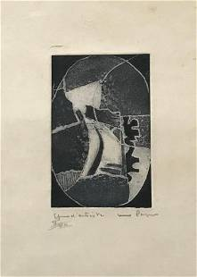 Max Papart Hand Signed and Numbered Etching on Paper