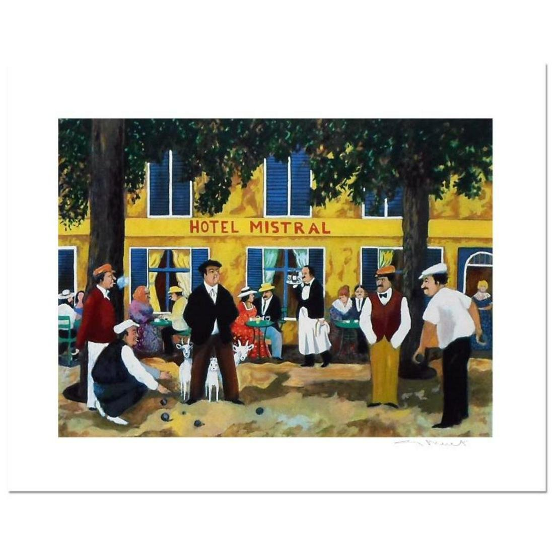 """Guy Buffet, """"Hotel Mistral"""" Limited Edition Serigraph;"""
