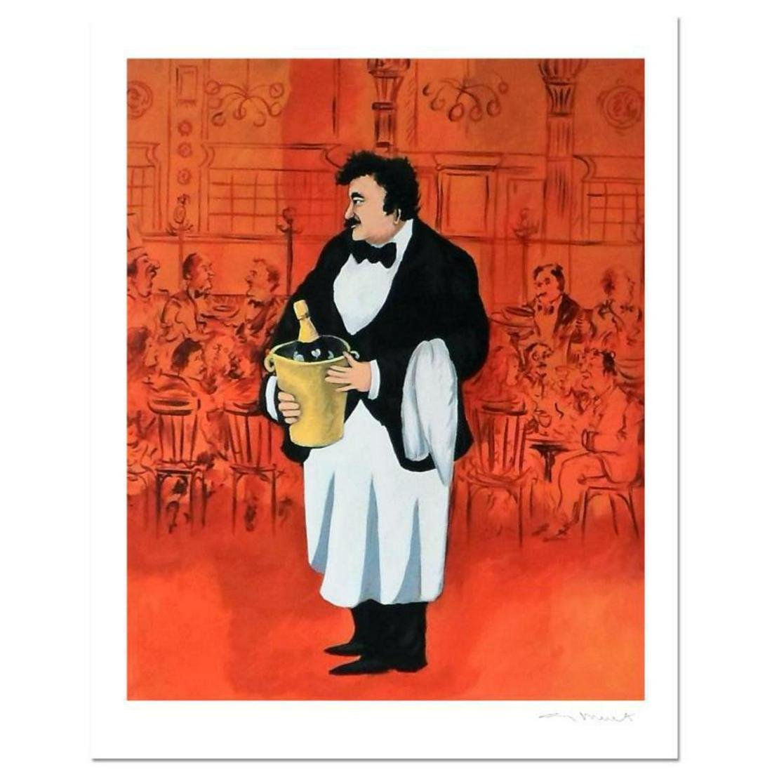 "Guy Buffet, ""Grand Cafe"" Limited Edition Serigraph;"