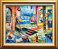 "Alexander Astahov- Original Oil on Canvas ""Book Writer"""