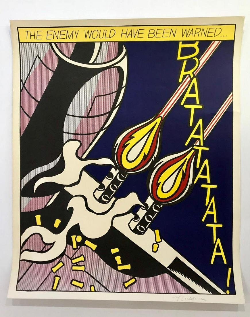 Roy Lichtenstein Hand Signed in Pencil Lithograph