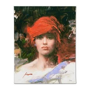 "Pino (1939-2010), ""Red Turban"" Artist Embellished"