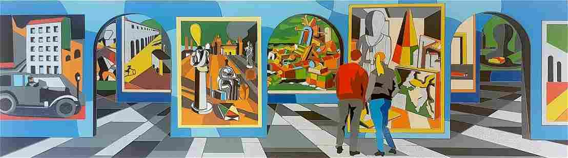 "Ugo Nespolo ""MUSEO METAFISICO"" Original Serigraph"