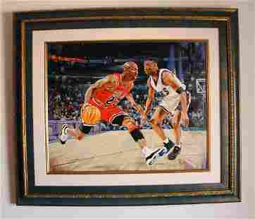 "Yevgeniy Korol- Original Oil on Canvas ""Jordan the"