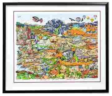 Charles Fazzino- 3D Construction Silkscreen Serigraph