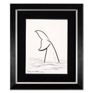 "Wyland, ""Whale Tail"" Framed Original Sketch, Hand"