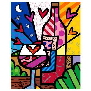 """Romero Britto """"Rose All Day"""" Hand Signed Limited"""