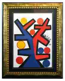 "Alexander Calder- Lithograph ""Asymetrie"""