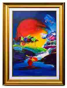 """Peter Max- Original Mixed Media """"Without Borders II"""