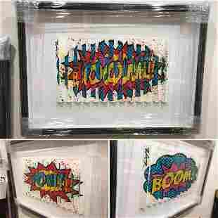 E.M. Zax Original Mixed Media Custom Framed Hommage to