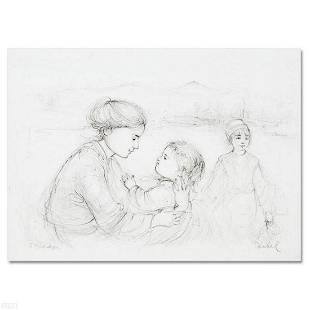 Playful Mother and Baby Limited Edition Lithograph by