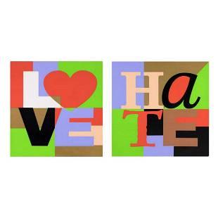 Steve Kaufman 19602010 Love Hate Set Limited