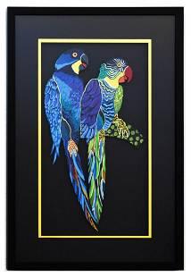 Patricia Govezensky Original Painting on Laser Cut