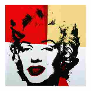 Andy Warhol Golden Marilyn 1138 Limited Edition Silk