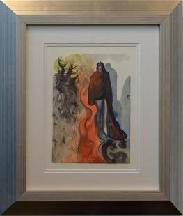 Salvador Dali Original Color Woodcut on BFK Rives