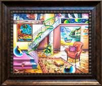 "Alexander Astahov- Original Oil on Canvas ""The City"