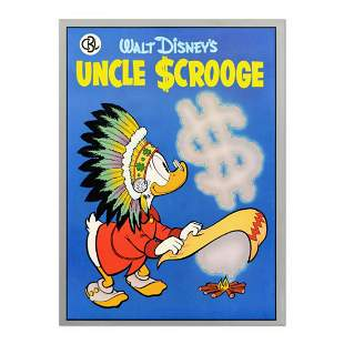 Uncle Scrooge Vintage Disney Serigraph Dated 1987