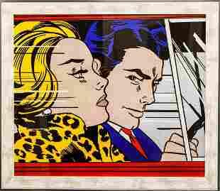 Roy Lichtenstein Offset Lithograph In the Car