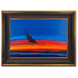 """Wyland, """"Dolphin Rising"""" Hand Signed Original Painting"""