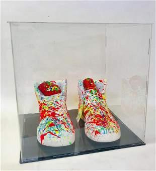 EM Zax Hand painted Addias Shoes