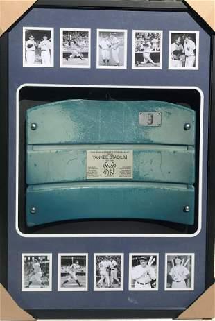 Original Custom Framed New York Yankees Stadium Seat