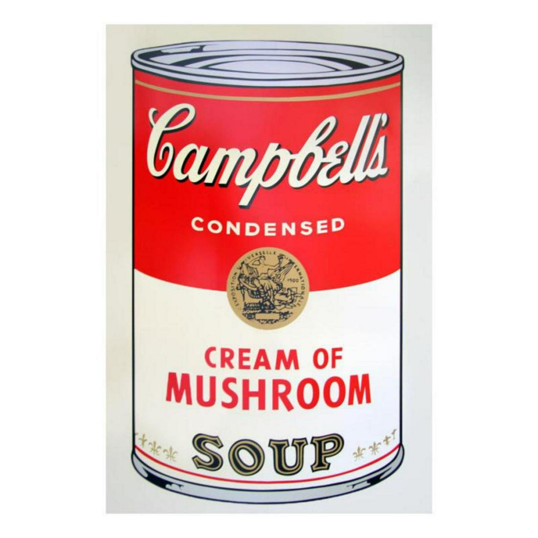 "Andy Warhol ""Soup Can 11.53 (Cream of Mushroom)"" Silk"