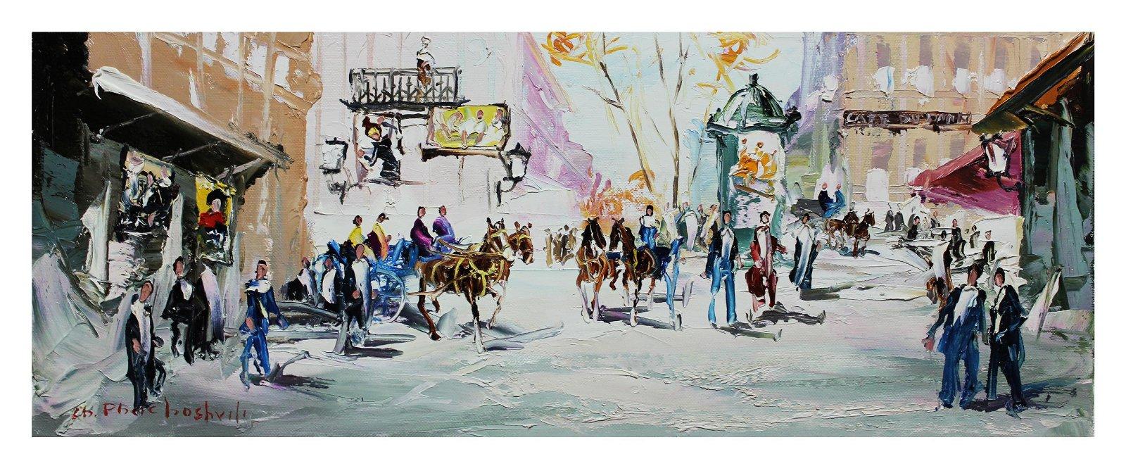 "Shalva Phachoshvili- Original Oil on Canvas ""After The"
