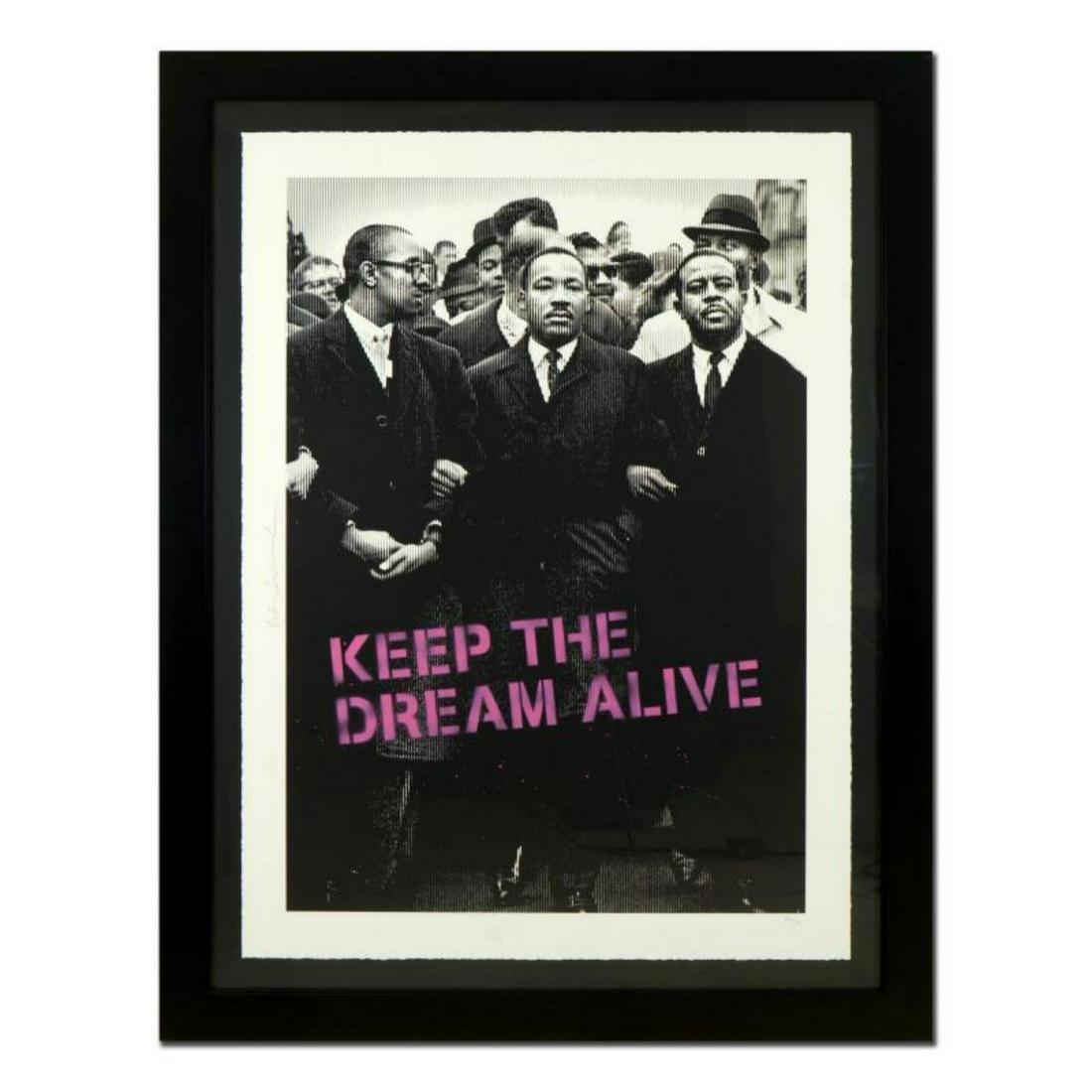 "Mr. Brainwash, ""Keep the Dream Alive (Pink)"" Framed"