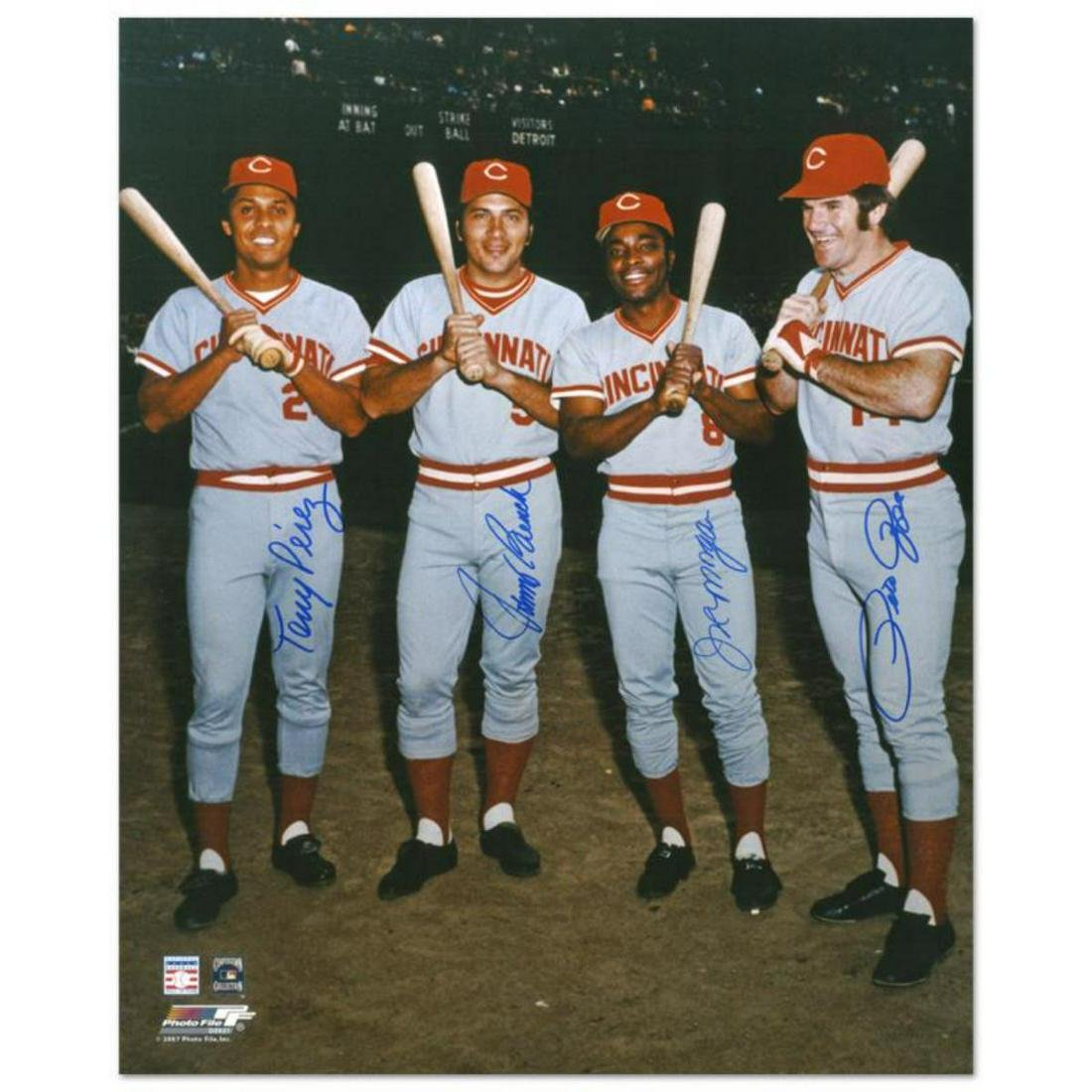 """""""The Big Four"""" Photograph Autographed by the Big Red"""