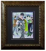 "Patricia Govezensky- Original Watercolor ""La Rambla"