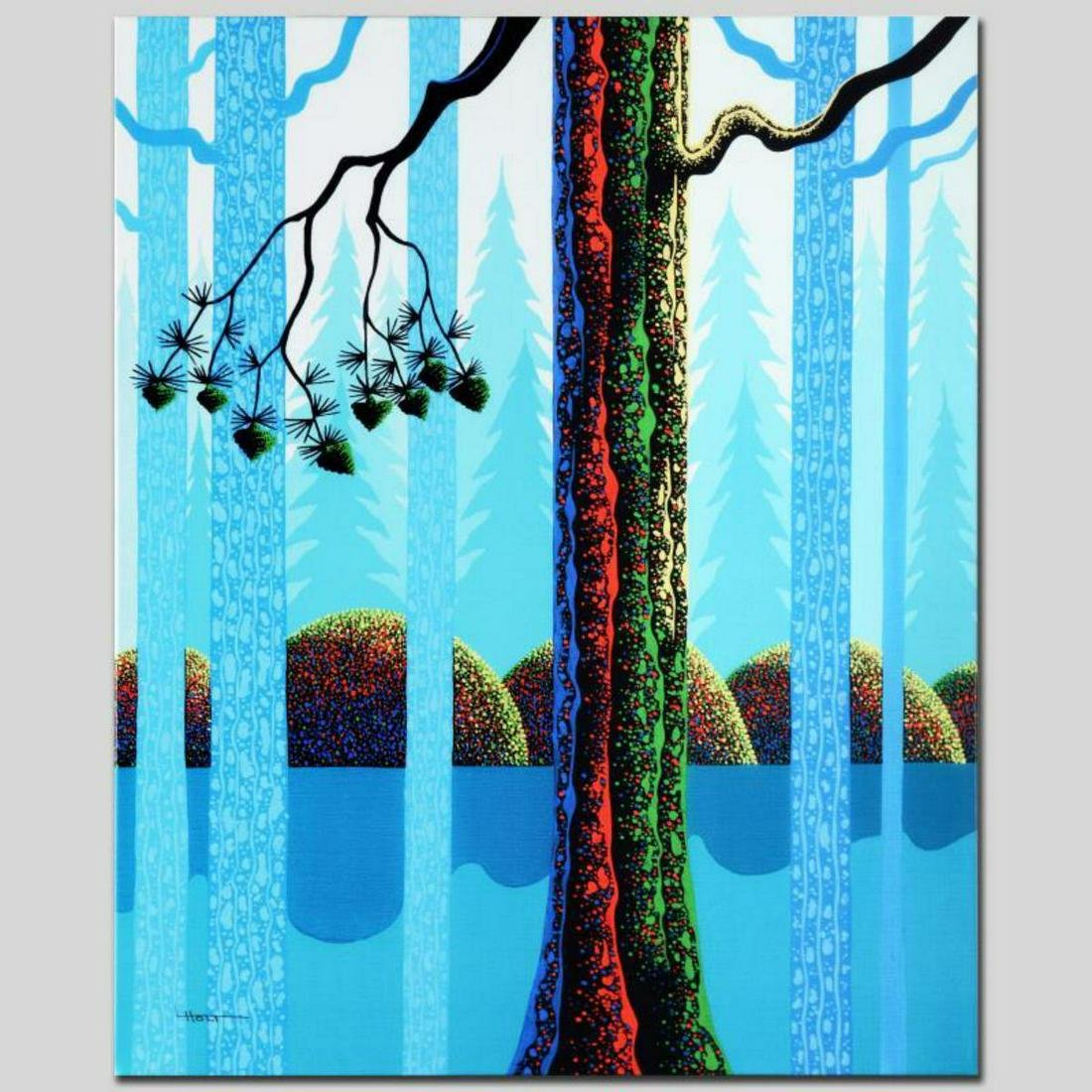 """""""Blue Neon"""" Limited Edition Giclee on Canvas by Larissa"""