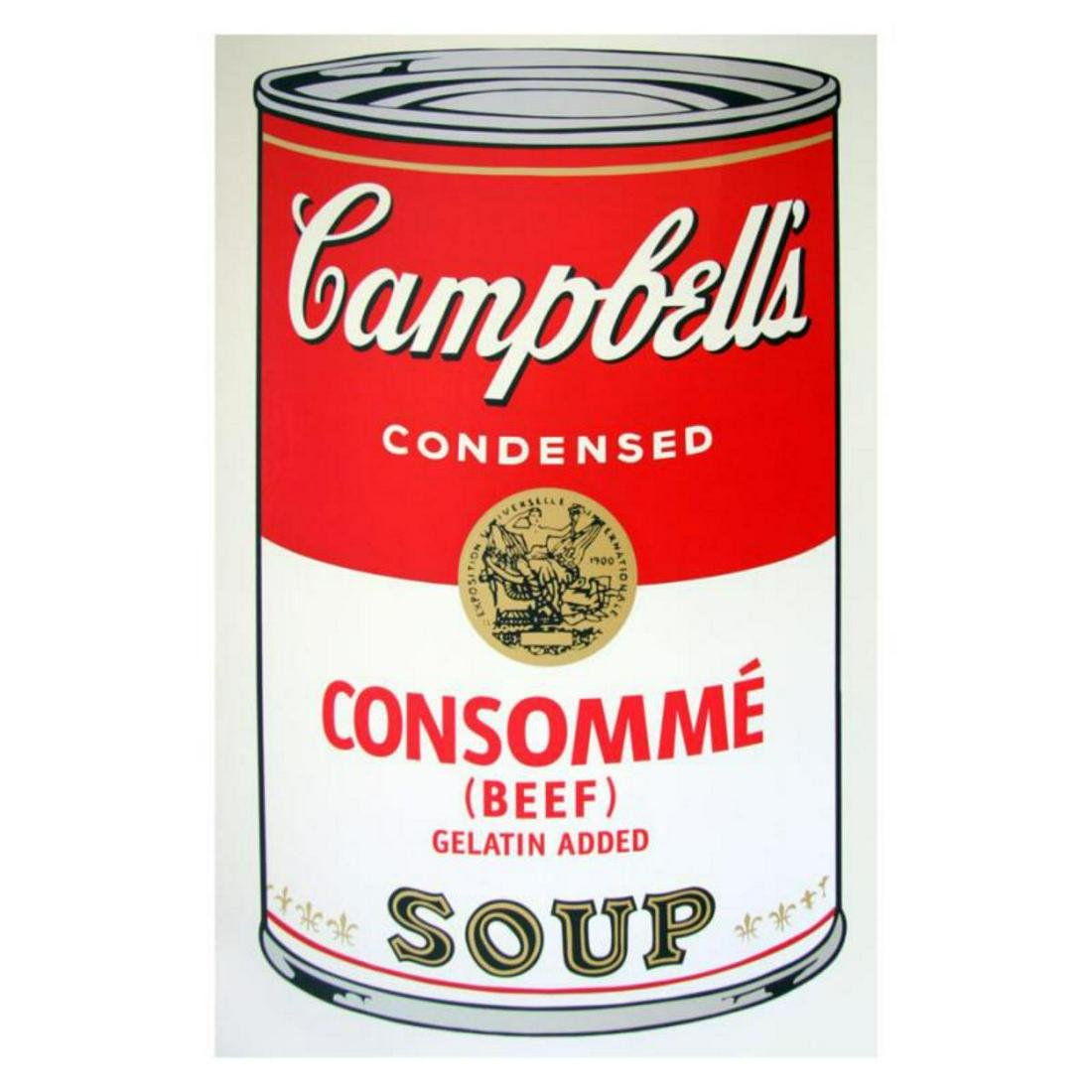 "Andy Warhol ""Soup Can 11.52 (Consomme)"" Silk Screen"