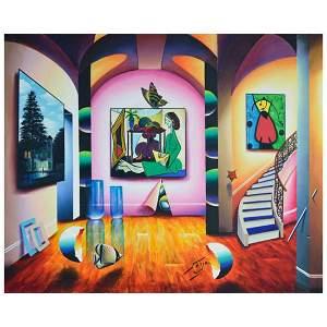 "Ferjo, ""Interior Wonders"" Original Painting on Canvas,"
