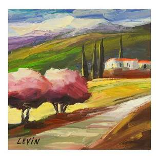 Levin, Original Acrylic Painting on Canvas, Hand Signed