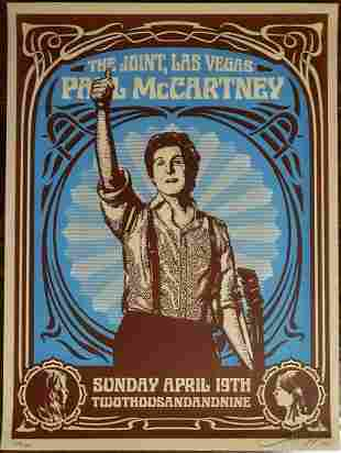 "Shepard Fairey Serigraph on Paper ""Paul McCartney"""