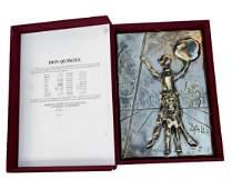 """Salvador Dali Bronze Bas Relief (Silver Patina) """"Don"""