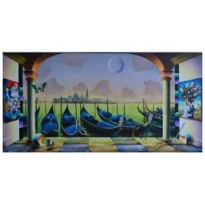 "Ferjo, ""Chagalls in Venice"" Original Painting on"
