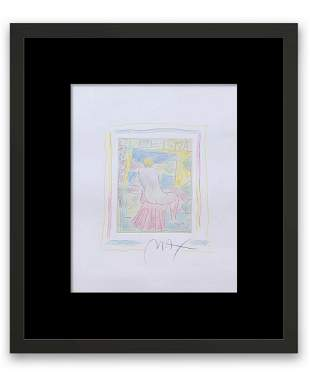 Peter Max ORIGINAL ONE OF A KIND COLOR PENCIL AND INK