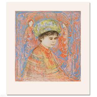 """Boy with Turban"" Limited Edition Lithograph by Edna"