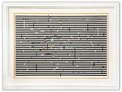 Yaacov Agam- Original Screenprint in colors on Arches