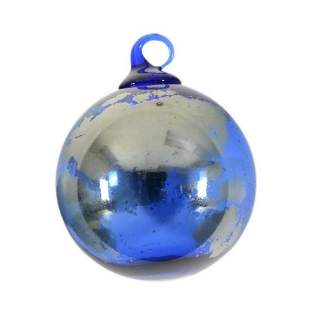 "Glass Eye Studios, ""Ornament (Earth)"" Hand Blown Glass"