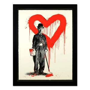 "Mr. Brainwash, ""Chaplin (Red)"" Framed Limited Edition"