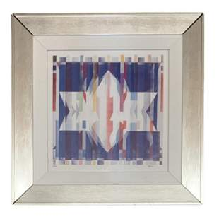 "Yaacov Agam Agamograph ""Star of david"""
