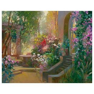 "Ming Feng, ""Sunlit Passage"" Limited Edition on Canvas,"
