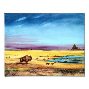 """Where the Buffalo..."" Limited Edition Giclee on Canvas"