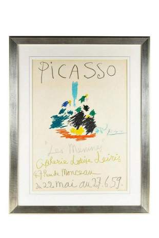 Pablo Picasso Original Exhibition Lithograph on paper