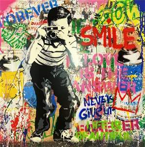 Mr. Brainwash Silkscreen and Mixed Media on Paper